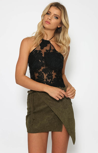 Lace Halter Beach Crop Tank Top - Beach'n Designs