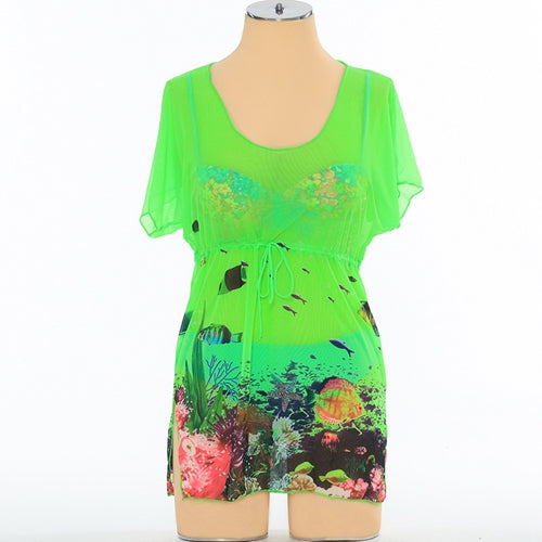 Under The Sea Chiffon Bikini Cover Up Beach Wear - Beach'n Designs