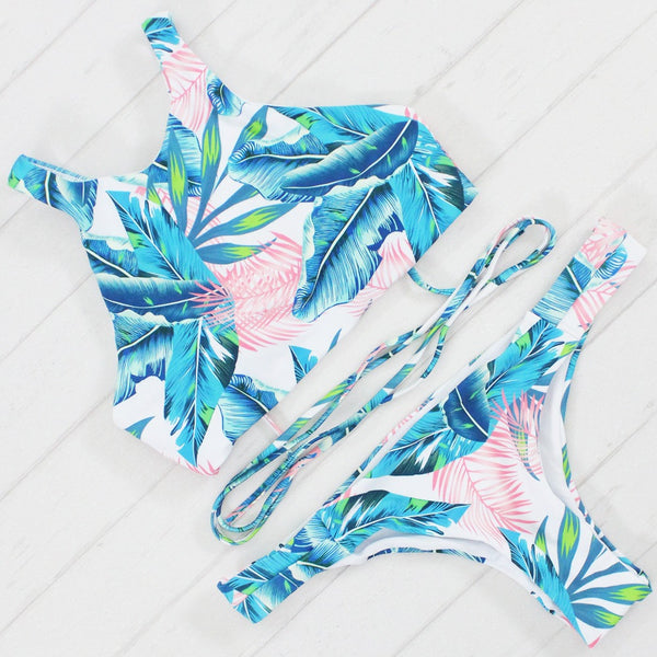 Cropped Top Swimsuit - Beach'n Designs