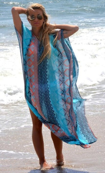 Chiffon Beach Cover up - Beach'n Designs