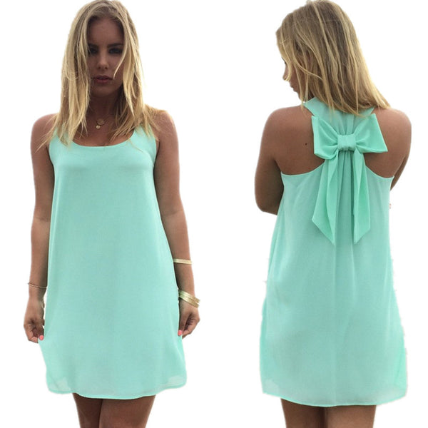 Beach Chiffon Sundress With Bow - Beach'n Designs
