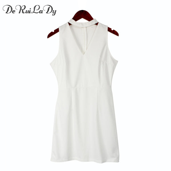 DeRuiLaDy Summer Dress Sexy Sleeveless Casual Mini Dress - Beach'n Designs