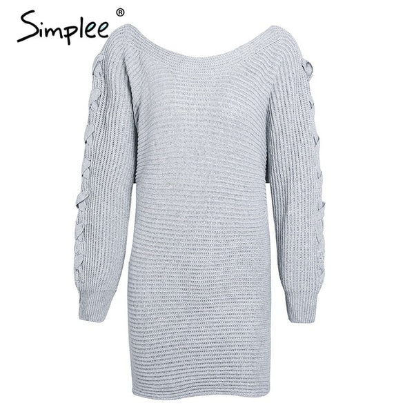 Simplee Sexy Sweater dress - Beach'n Designs