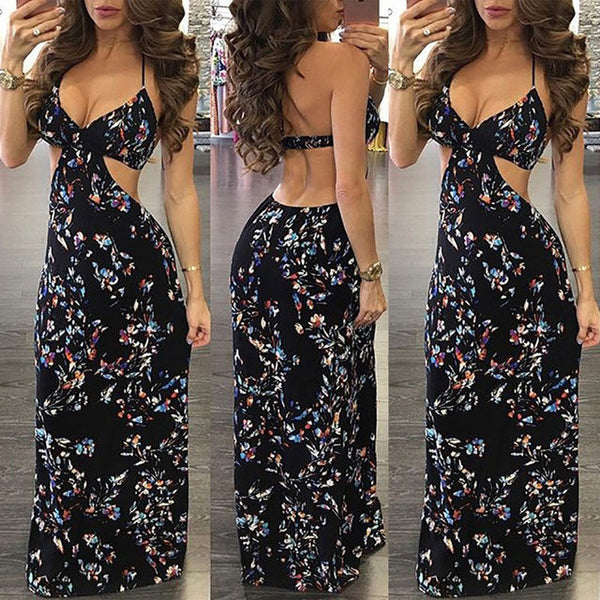 Side Slit Floral Print BoHo Dress - Beach'n Designs