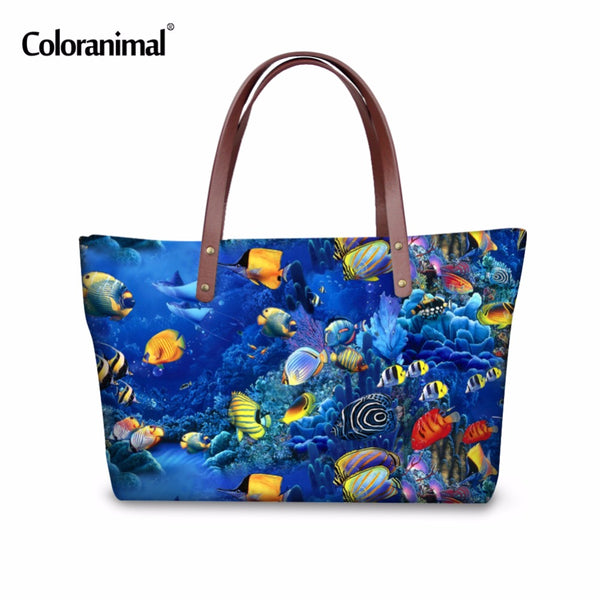 Under the Sea Coral Reef Handbag