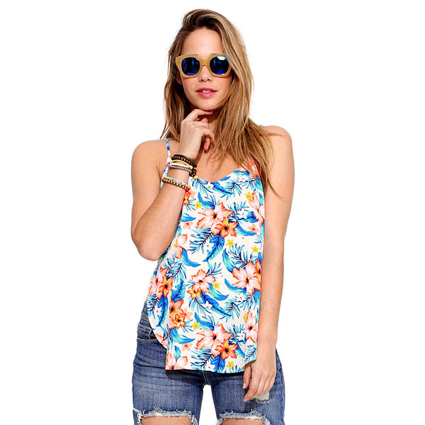 Tropical Flower tank top - Beach'n Designs