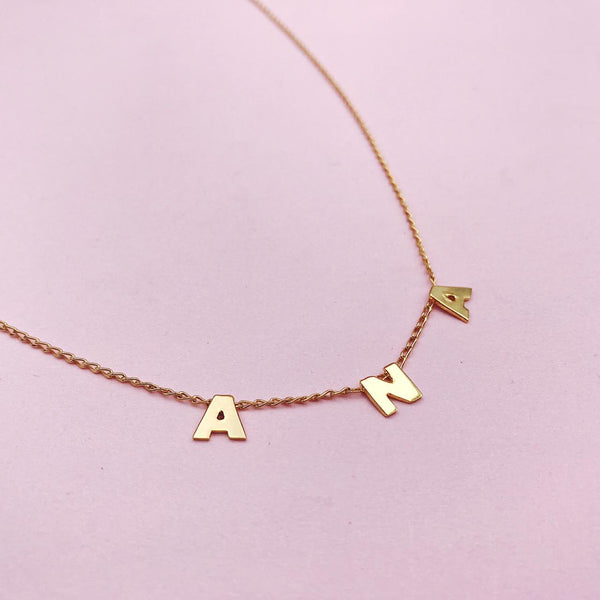 SPACE LETTER NECKLACE