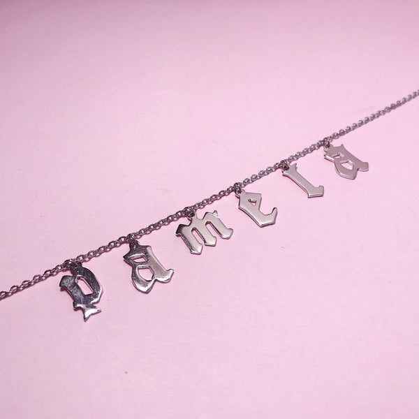 GOTH LETTERS NECKLACE