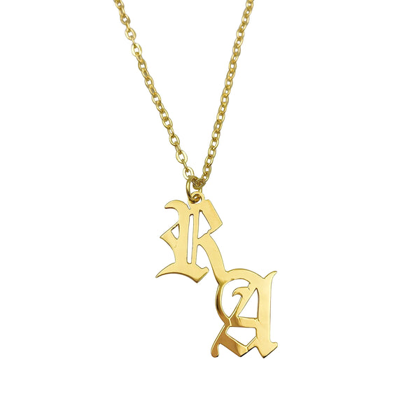 DOUBLE LETTER NECKLACE