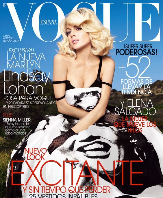 Linsday Lohan | Vogue España, August 2009