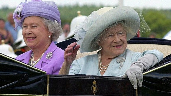 HM The Queen & the late Queen Mother at Royal Ascot