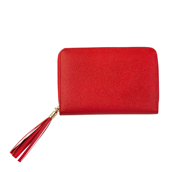 Nina - Medium Leather Purse - Red - Cornelia James - 3