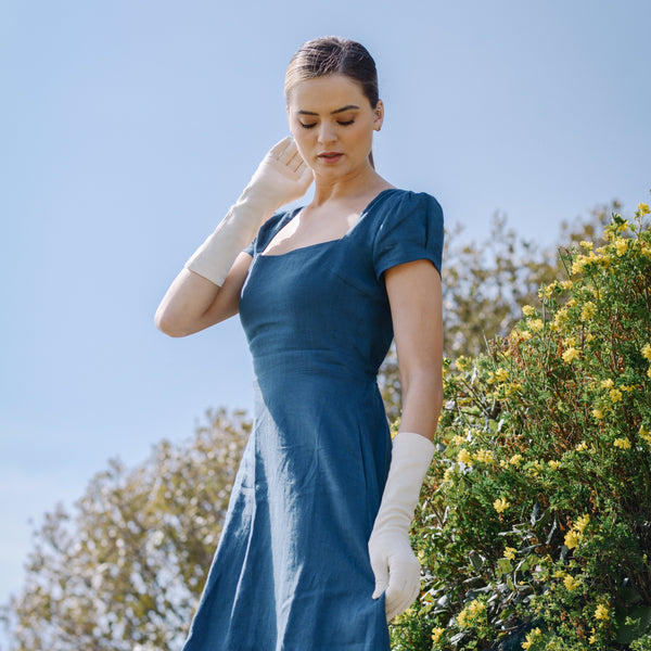 Francesca | Longer Line Pure Sueded Cotton Glove