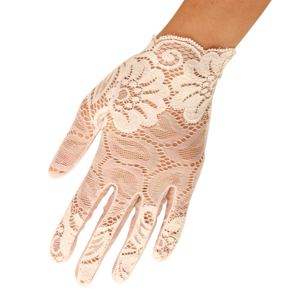 Lily - Lace Glove - White - Cornelia James - 1
