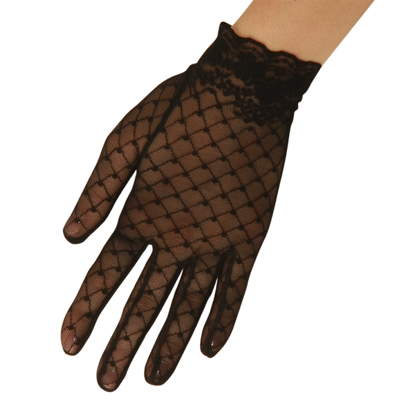 Ella - Lace Glove - Black - Cornelia James - 1