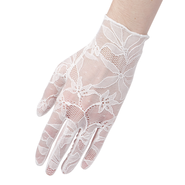 Virginia - Lace Glove - Ivory - Cornelia James - 2