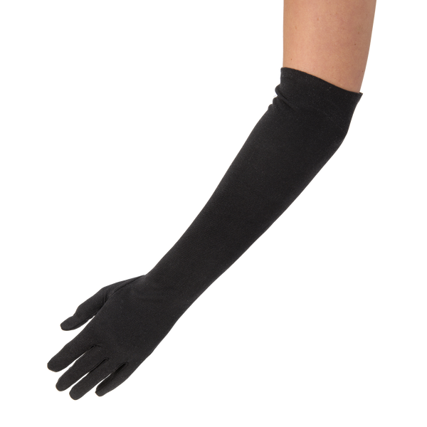 Theodora - elbow length pure silk glove with mousequetaire