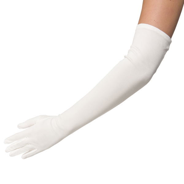 Desdemona - Opera length pure silk glove with mousquetaire