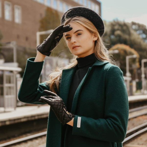 Marie | Cashmere Lined Quilted Leather Glove