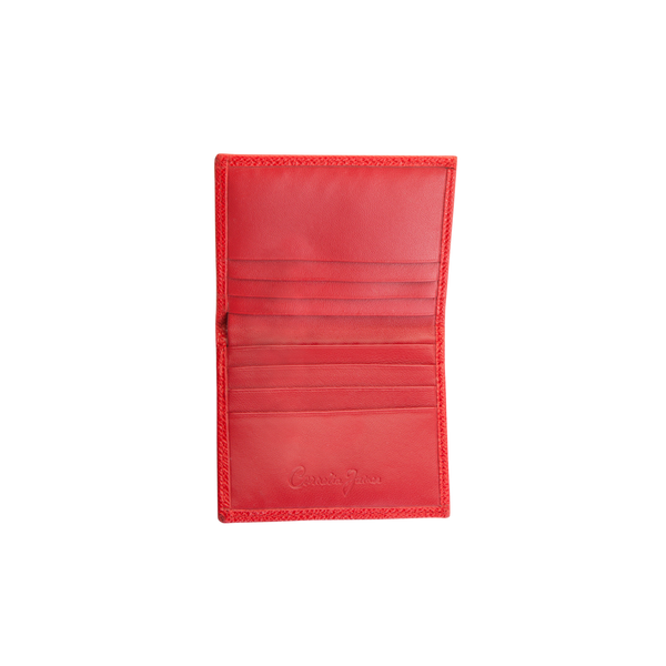 Eva - Leather Card Holder - Red - Cornelia James - 1