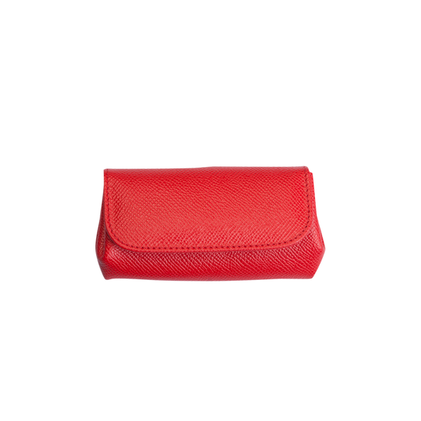 Olga - Leather Coin Purse - Red - Cornelia James - 4