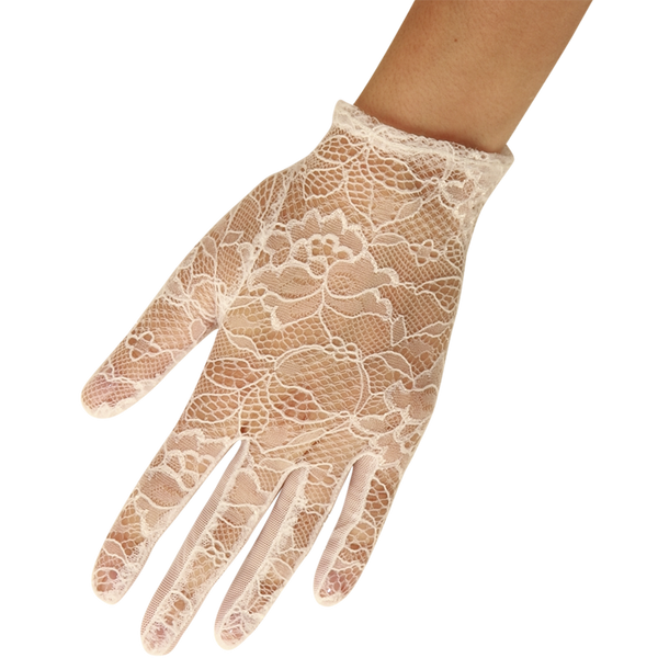 Nancy - Lace Glove - Ivory - Cornelia James