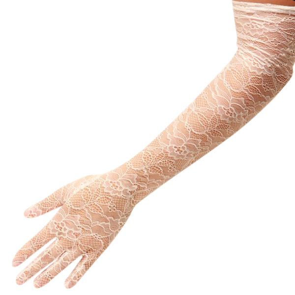 Alexandra - Lace Glove - Ivory - Cornelia James - 2