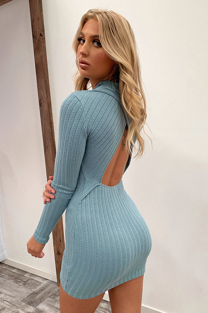 Natalee Dress - Blue