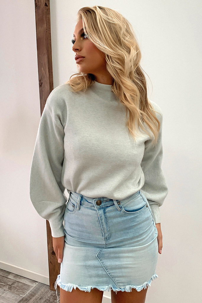 Brandy Knitted Jumper - Grey