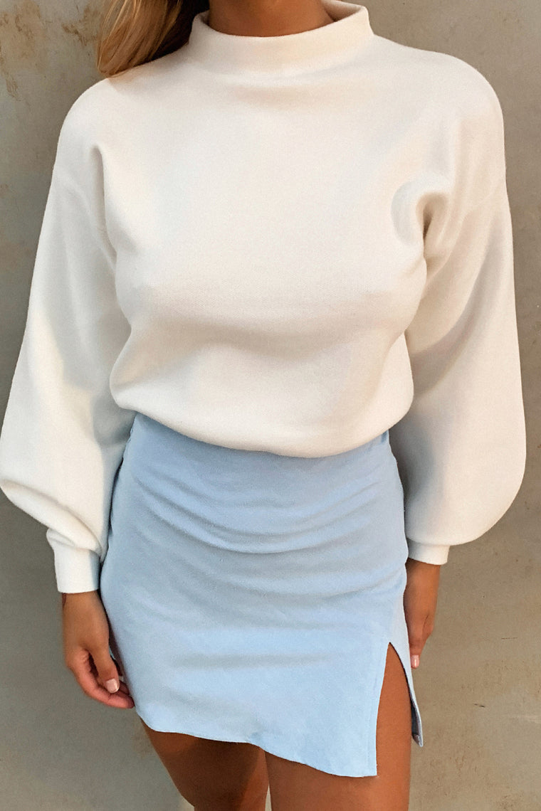 Brandy Knitted Jumper - White