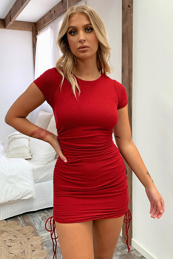Miller Dress - Deep Red