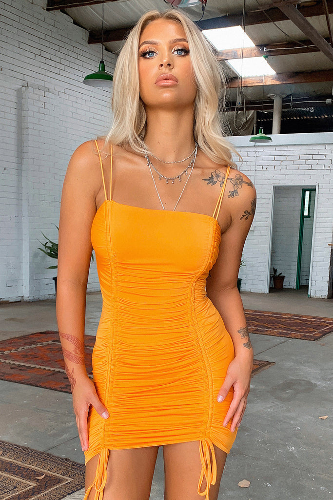Summer Lies Dress - Orange