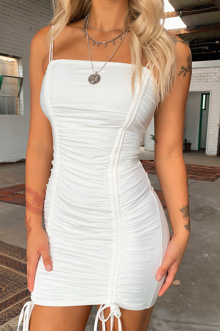 Summer Lies Dress - White