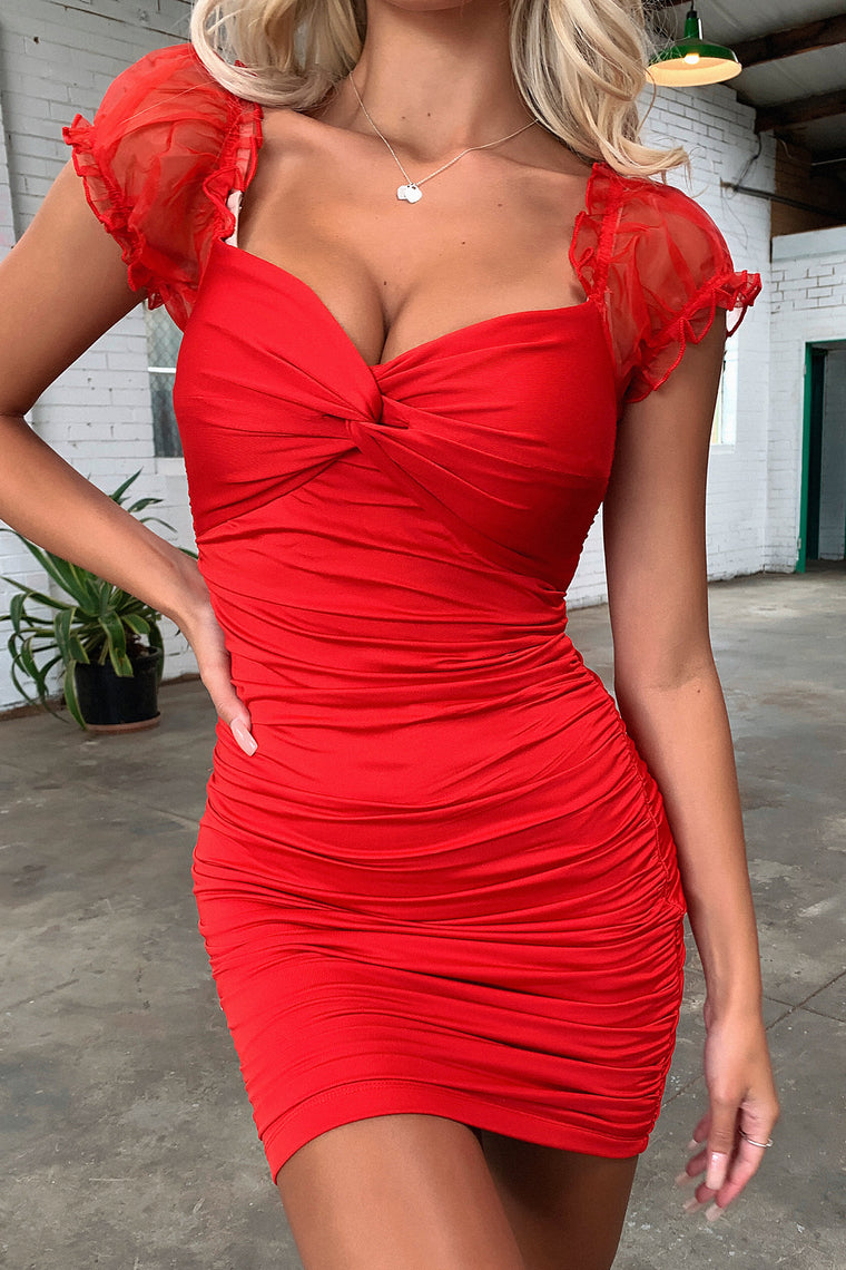 Brandon Dress - Red