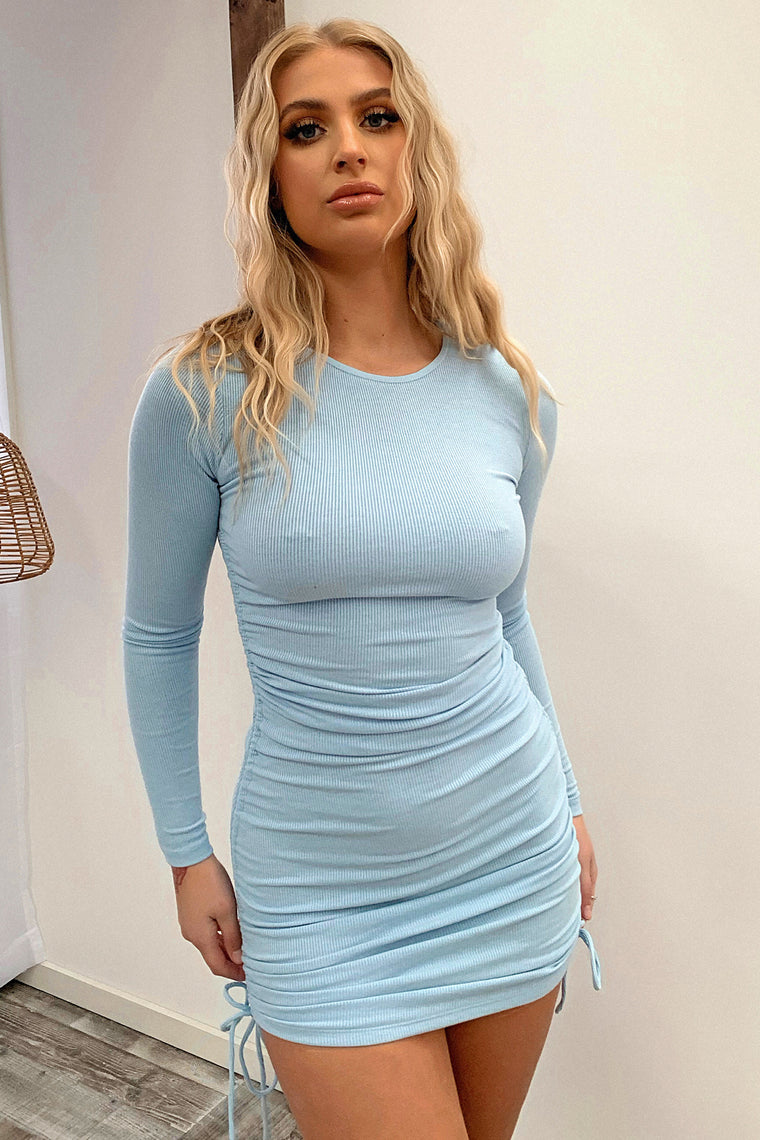 Miller Long Sleeve Dress - Baby Blue