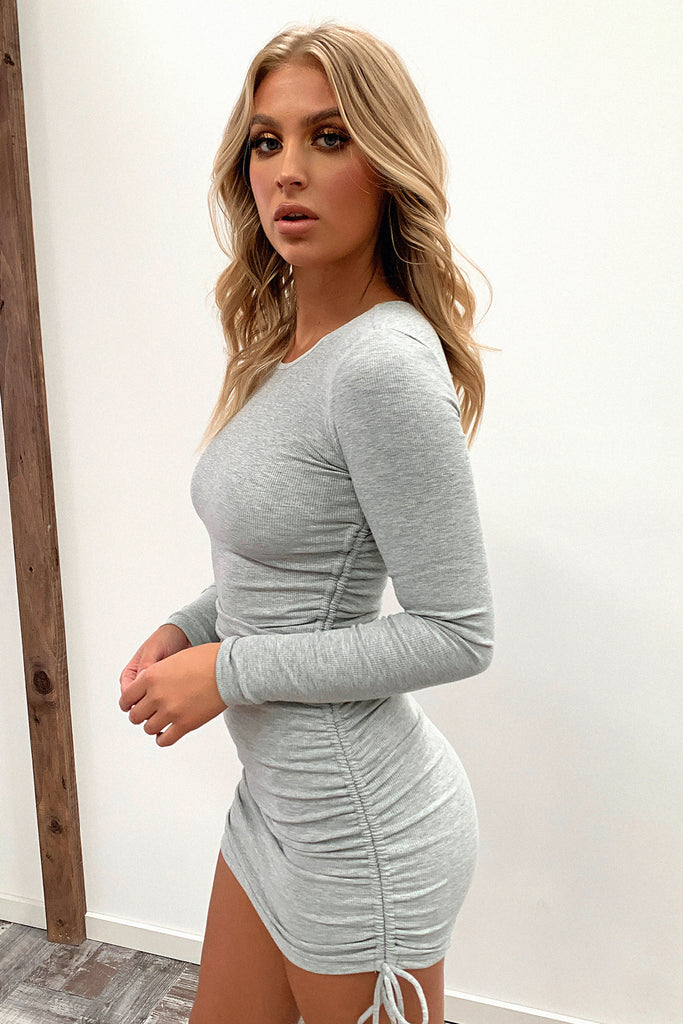 Miller Long Sleeve Dress - Grey