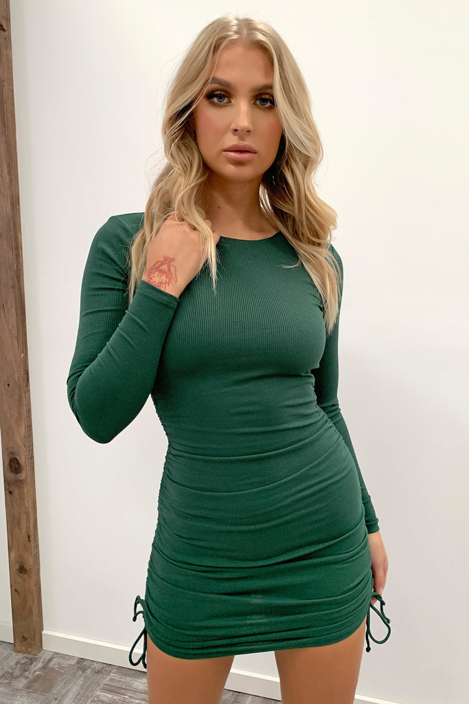 Miller Long Sleeve Dress - Emerald