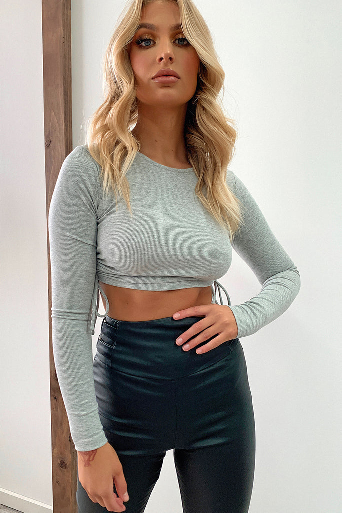 Melana Crop Top - Grey