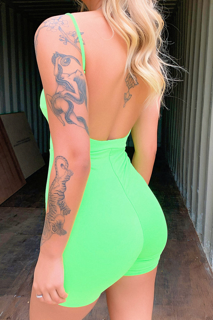 Purpose Playsuit - Neon Green