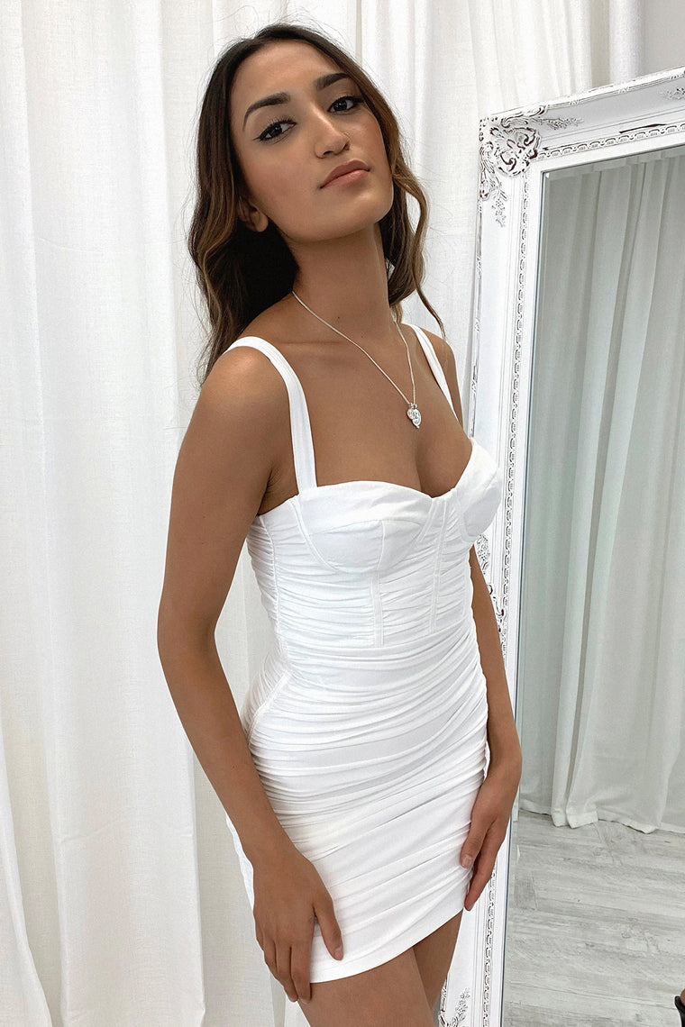 *Pre-Order* Presley Dress - White *Shipping Early Nov*