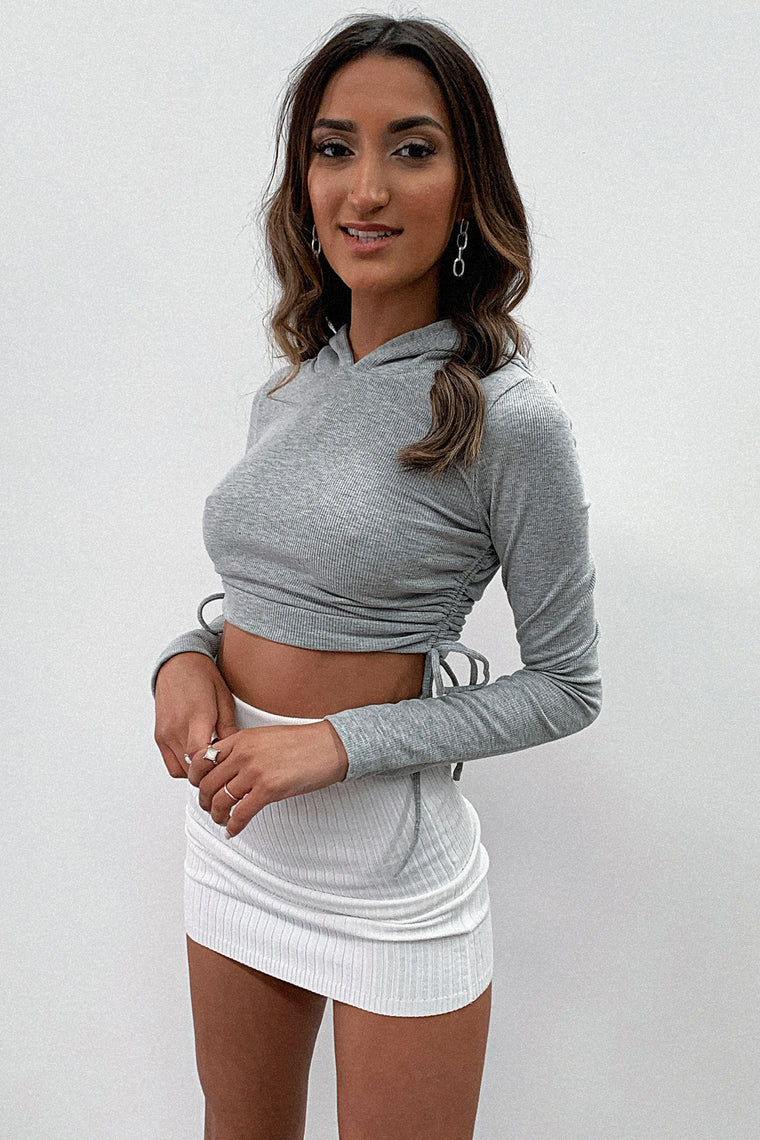 Benson Crop - Grey