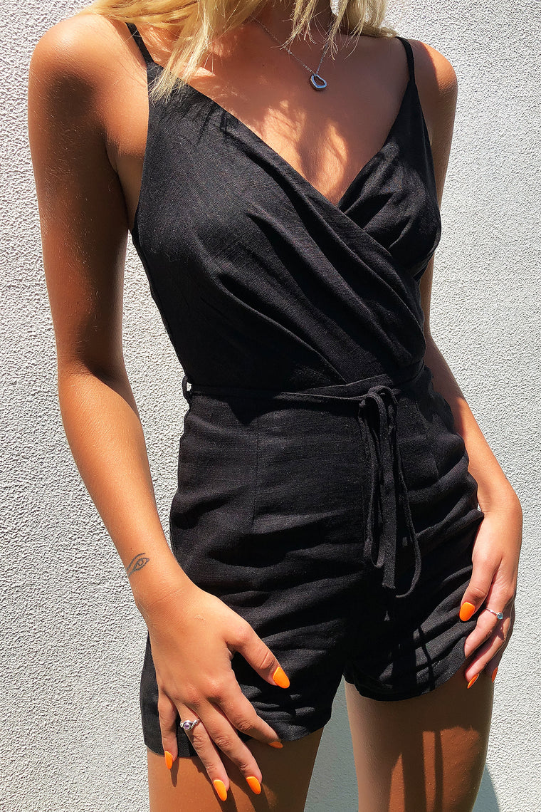 RHANI PLAYSUIT - BLACK
