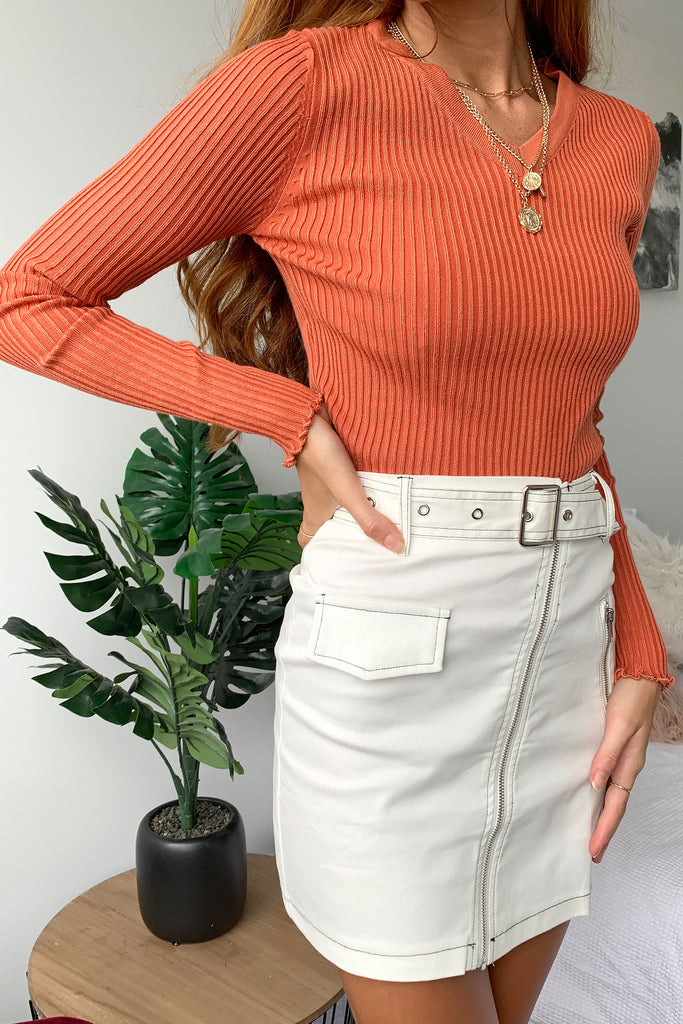 Mairi Knit - Burnt Orange