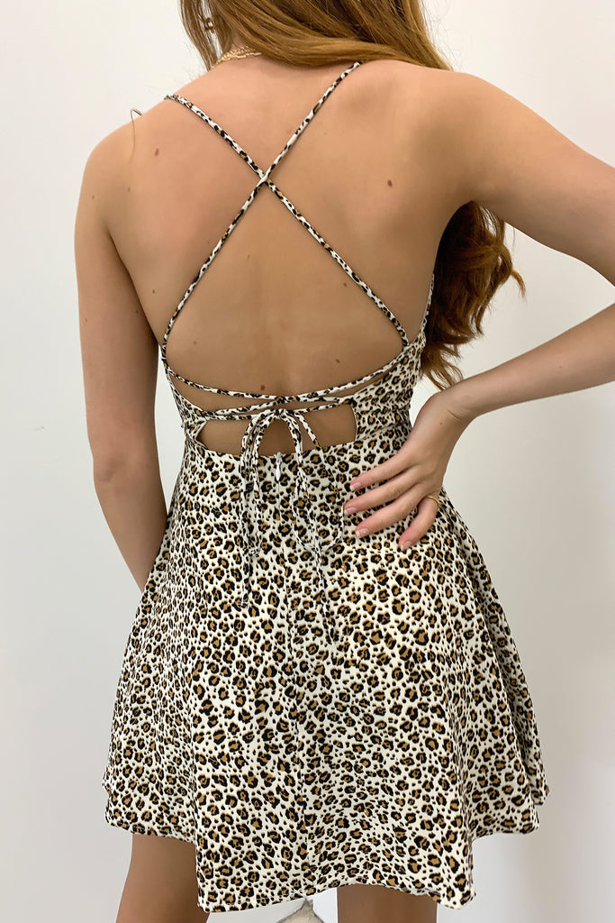 Elettra Dress - Leopard