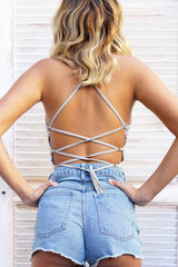 SANDY CROP - GREY