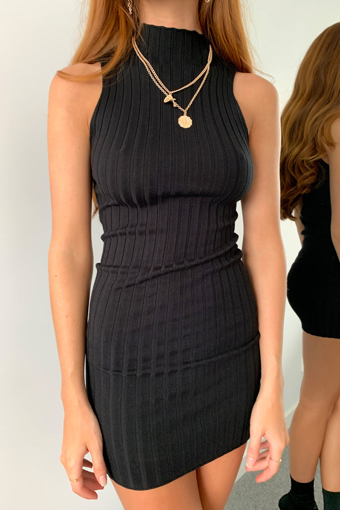 Livi Knit Dress - Black