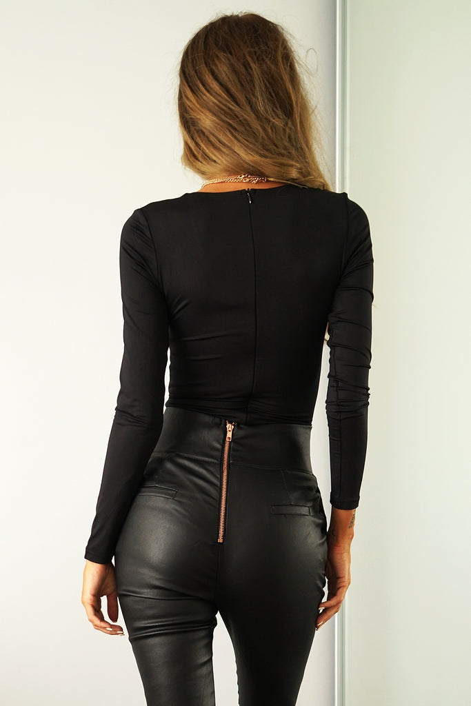 MARCELLA BODYSUIT - BLACK