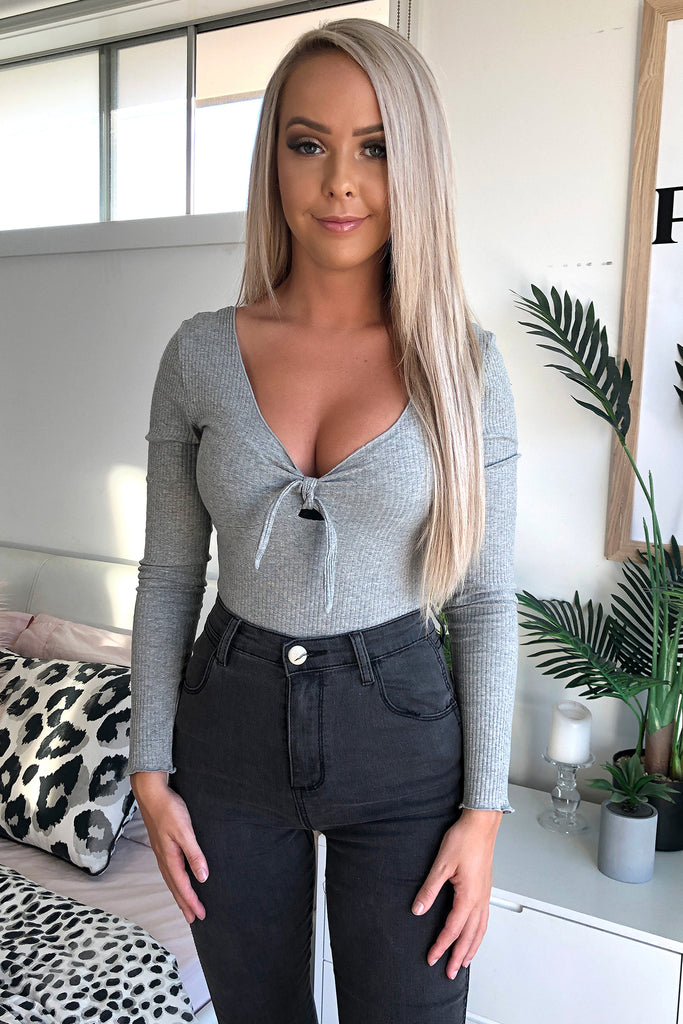 Nina Bodysuit - Grey