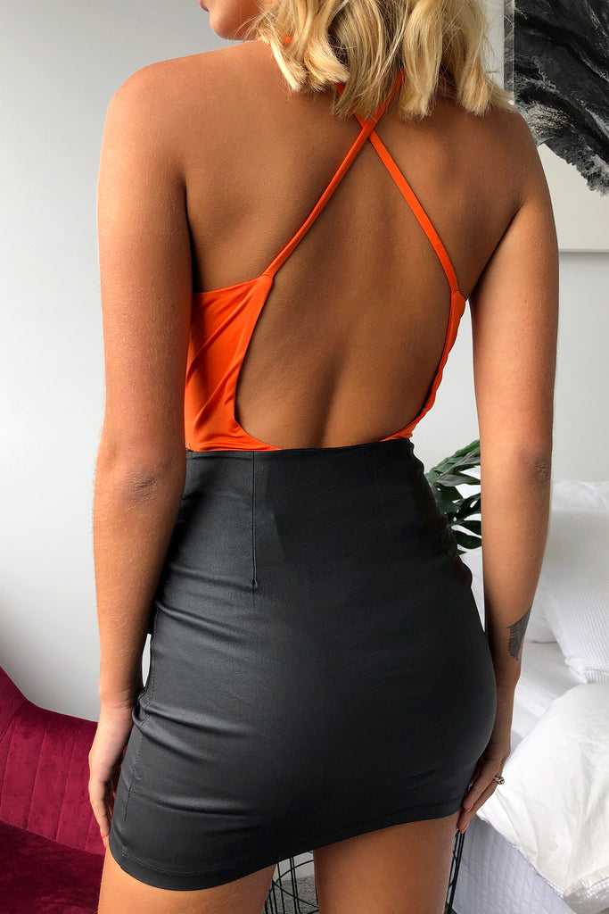 HADWIN BODYSUIT - ORANGE