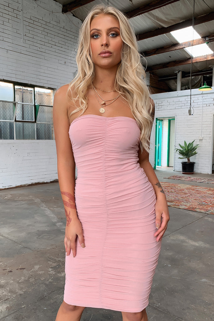Shiloh Strapless Dress - Blush